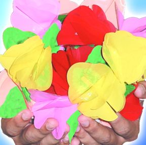 Paper to flowers
