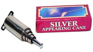 silver appearing cane
