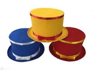 folding top hat colored